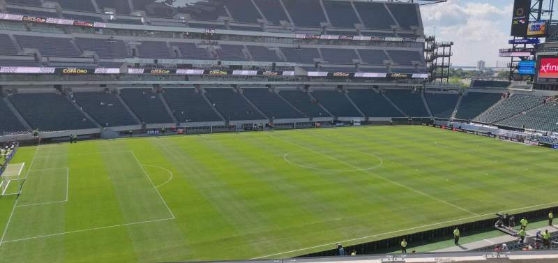 Seating view for Lincoln Financial Field Section C18 Row 5 Seat 11