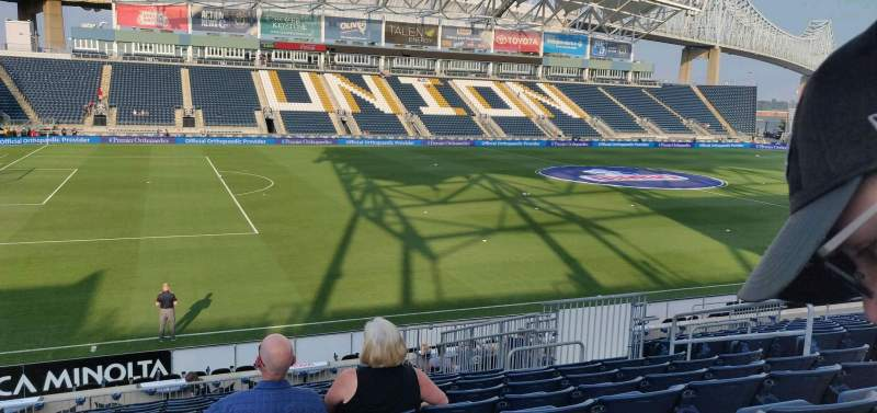 Seating view for Subaru Park Section 111 Row s Seat 10