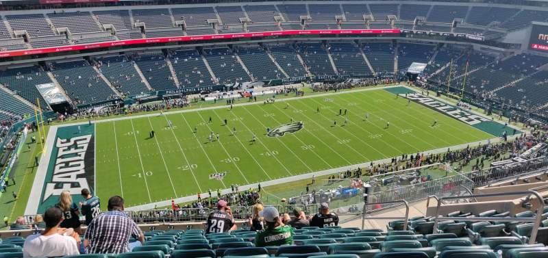 Seating view for Lincoln Financial Field Section 242 Row 16 Seat 7