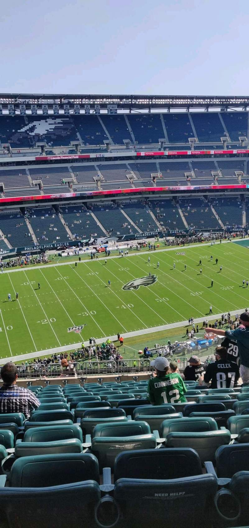Seating view for Lincoln Financial Field Section 242 Row 16 Seat 8