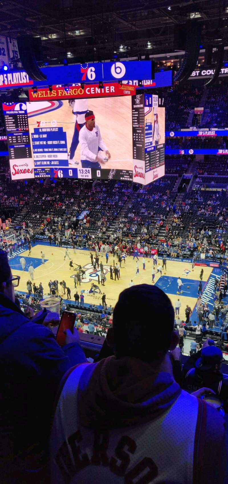 Seating view for Wells Fargo Center Section 215 Row 5 Seat 9