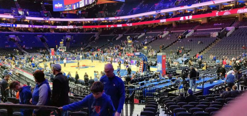 Seating view for Wells Fargo Center Section 117 Row 14 Seat 2