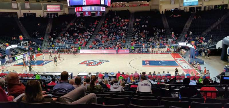 Seating view for Vines Center Section 115 Row W Seat 13