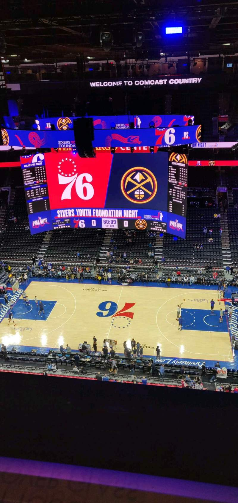 Seating view for Wells Fargo Center Section Revolutionary Row A Row A Seat 101