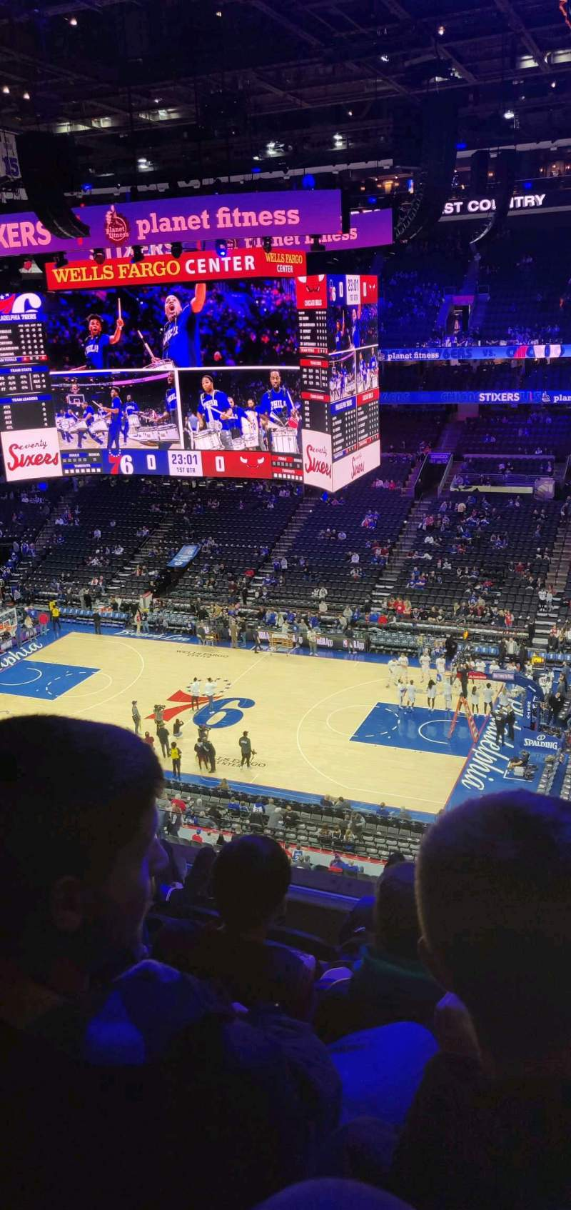 Seating view for Wells Fargo Center Section 215 Row 6 Seat 10
