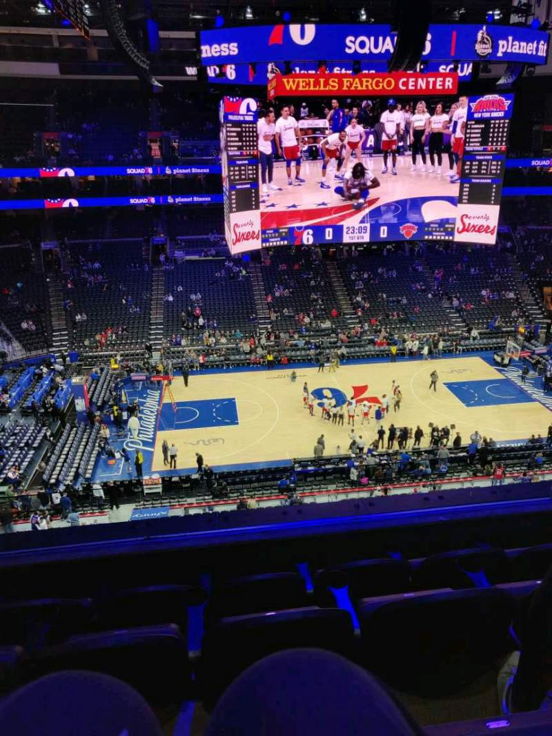 Seating view for Wells Fargo Center Section 224 Row 4 Seat 7