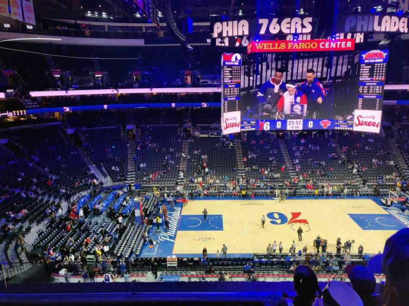 Seating view for Wells Fargo Center Section 224 Row 4 Seat 8