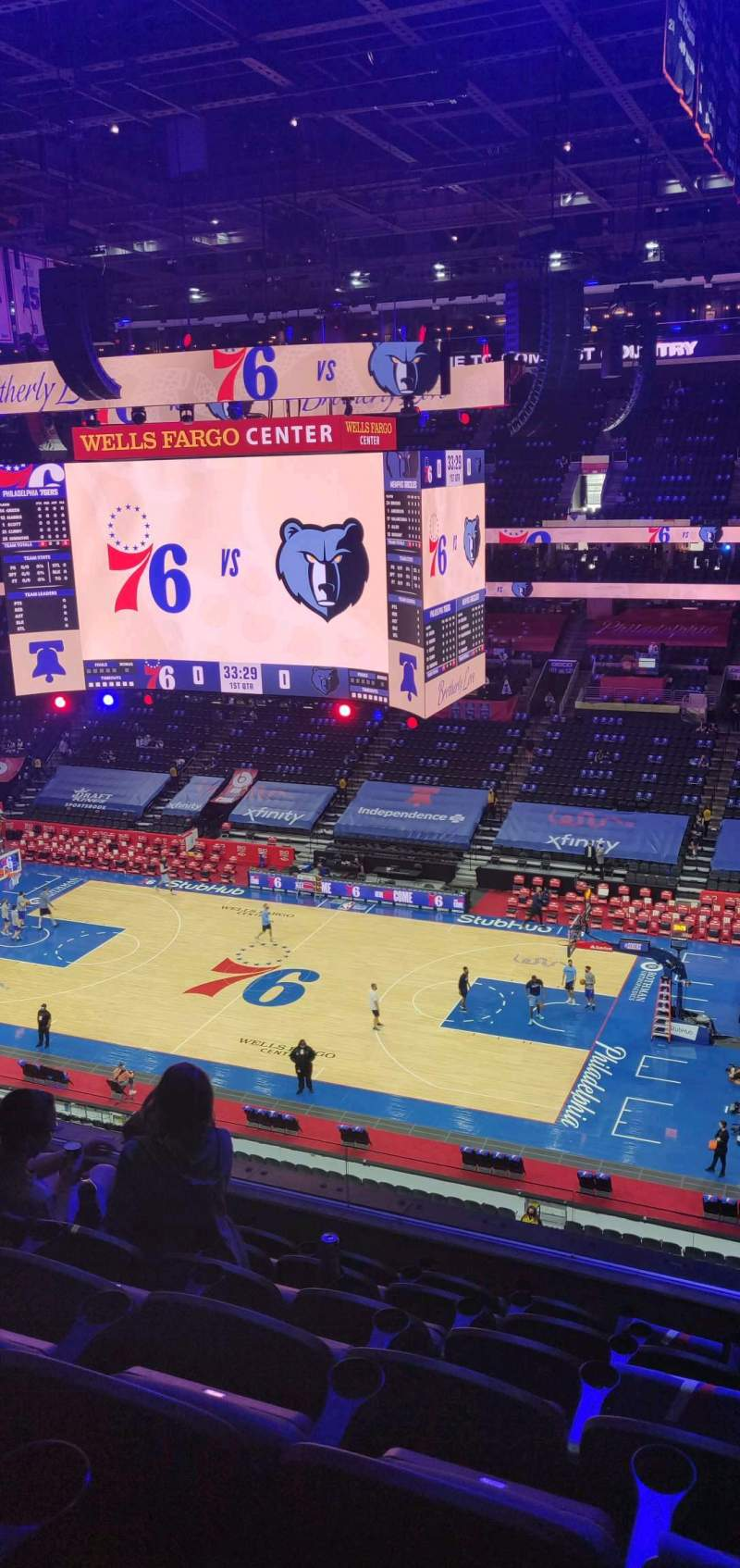 Seating view for Wells Fargo Center Section 215 Row 7 Seat 11