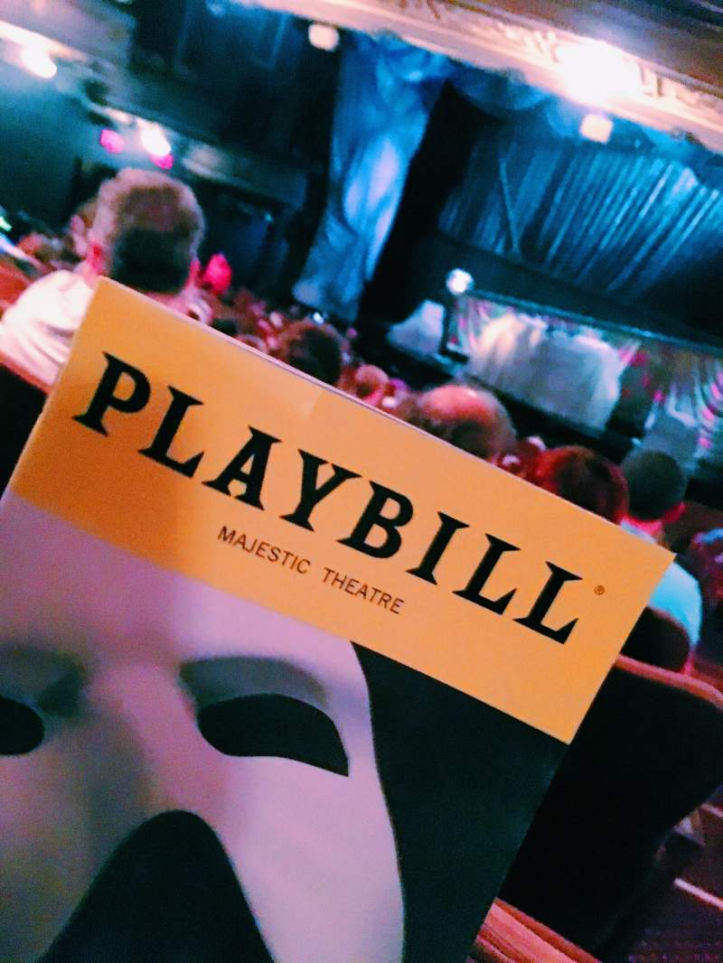 Seating view for Majestic Theatre Section Orchestra C Row T Seat 114