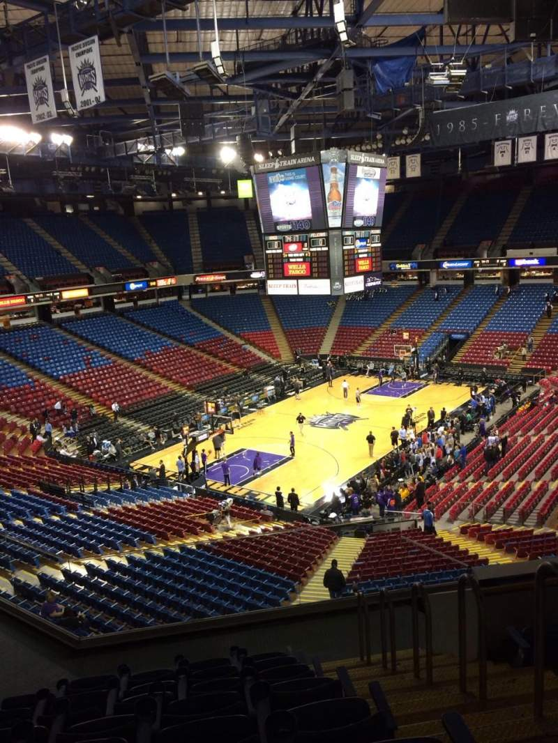 Seating view for Sleep Train Arena Section 206 Row G Seat 17