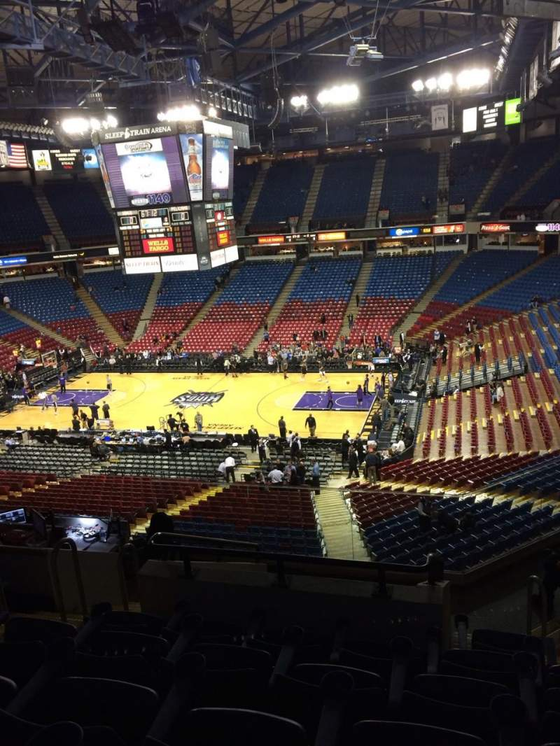 Seating view for Sleep Train Arena Section 213 Row G Seat 10