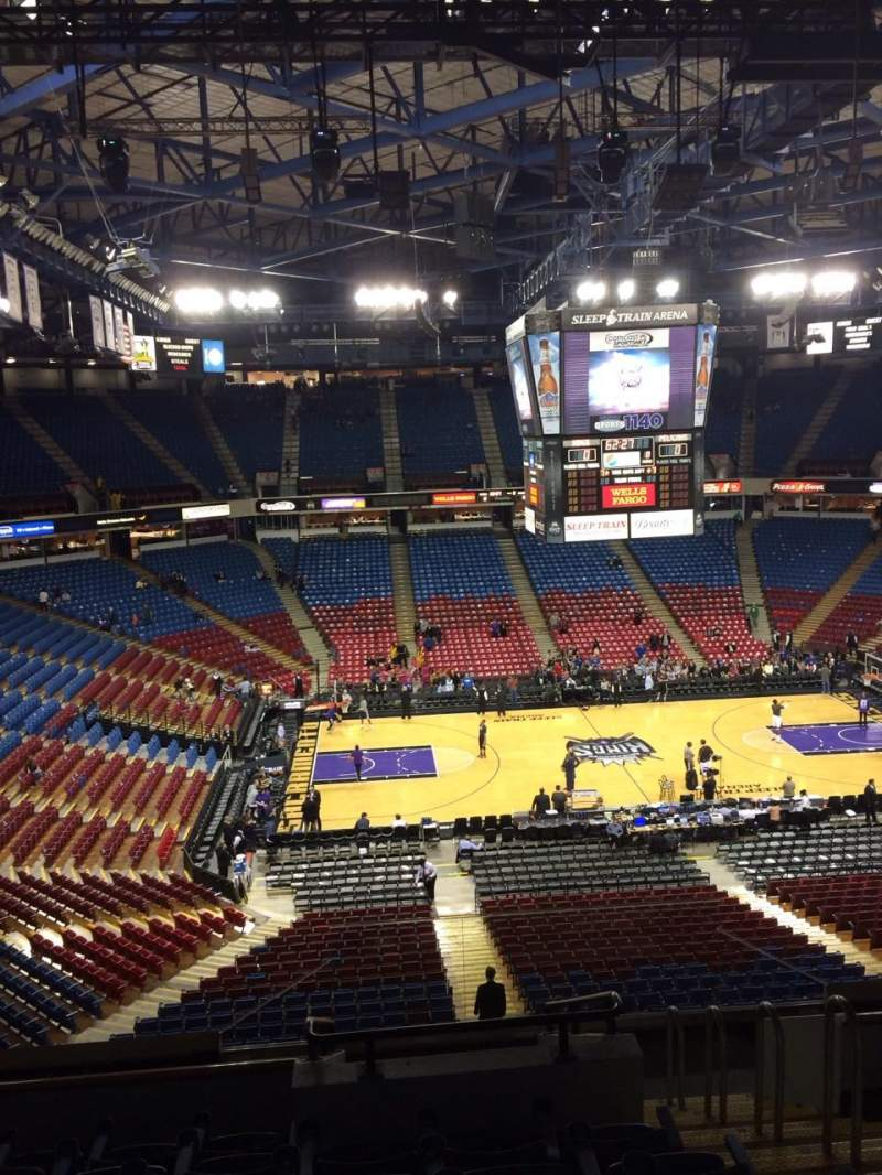 Seating view for Sleep Train Arena Section 216 Row H Seat 3