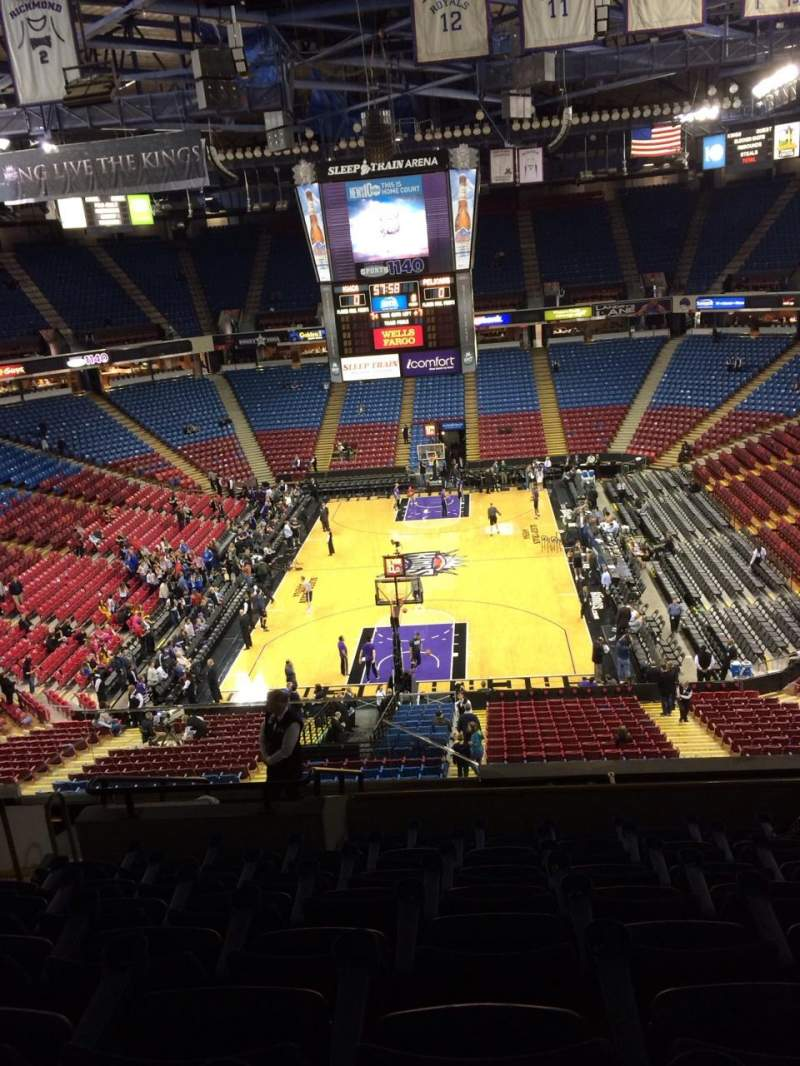 Seating view for Sleep Train Arena Section 220 Row I Seat 9
