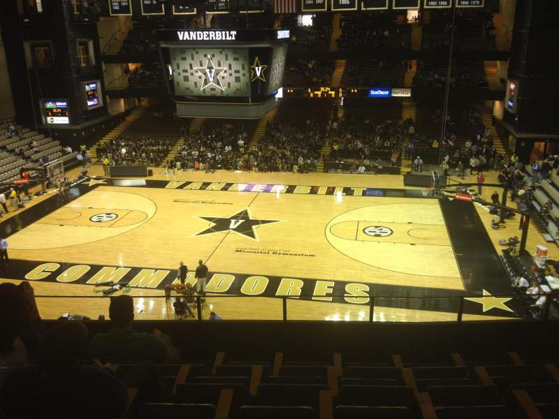 Seating view for Memorial Gymnasium (Vanderbilt) Section 3B Row 6 Seat 4