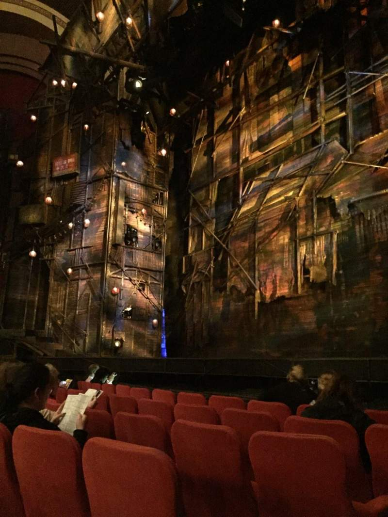 Seating view for Broadway Theatre - 53rd Street Section Orch Row F Seat 1