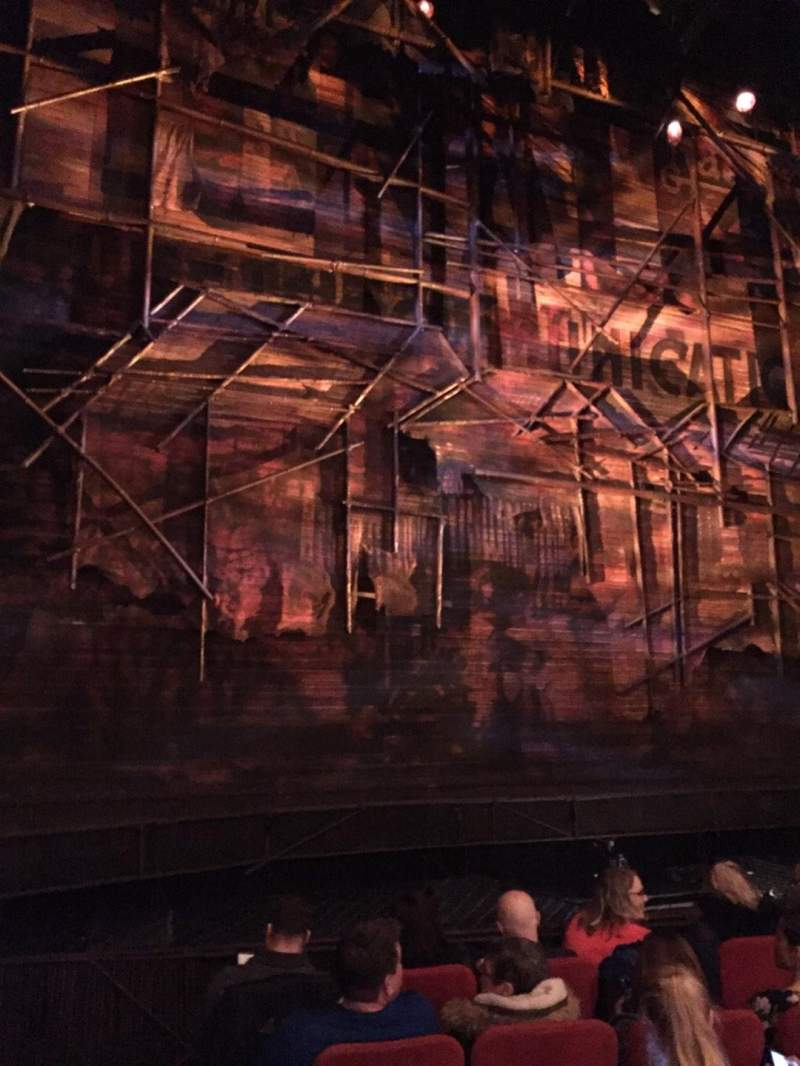 Seating view for Broadway Theatre - 53rd Street Section Orchestra L Row F Seat 2