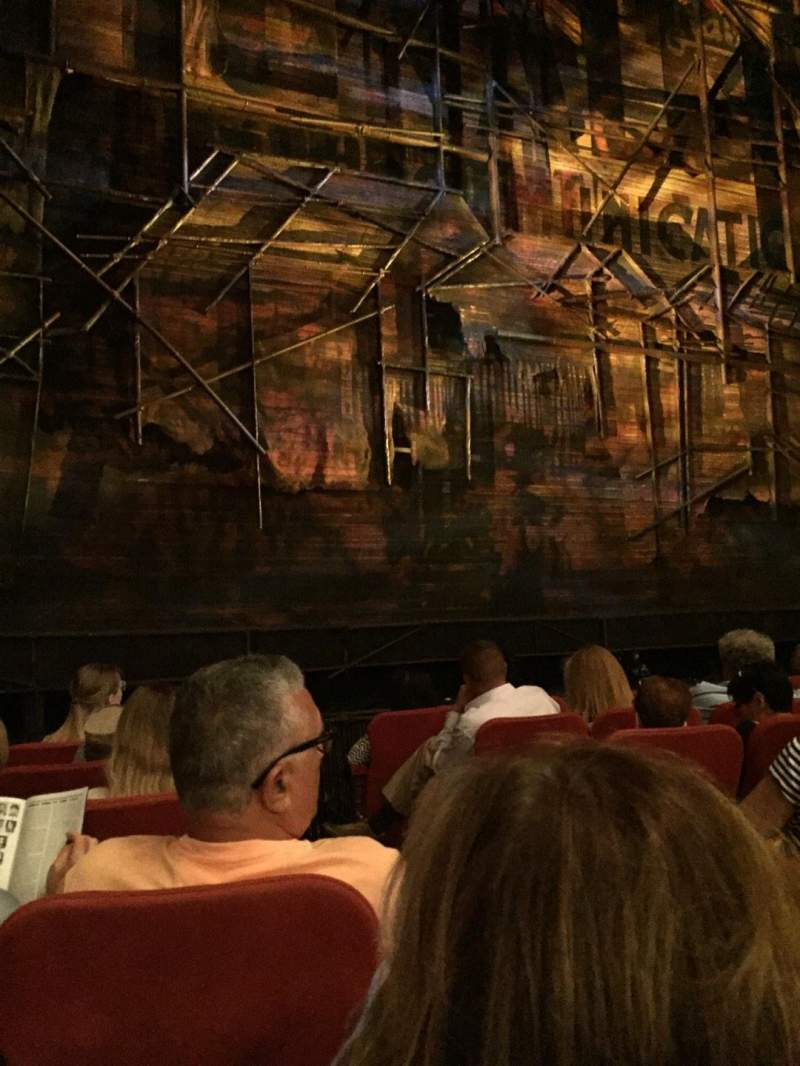 Seating view for Broadway Theatre - 53rd Street Section Orch Row G Seat 4