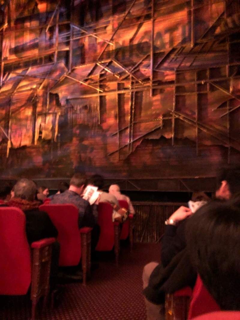 Seating view for Broadway Theatre - 53rd Street Section Orchestra L Row G Seat 2