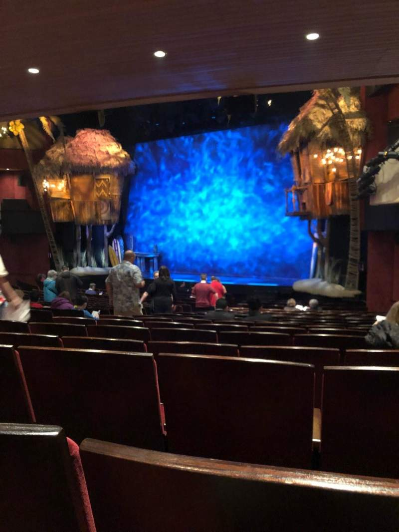 Seating view for Marquis Theatre Section Orchestra C Row U Seat 14