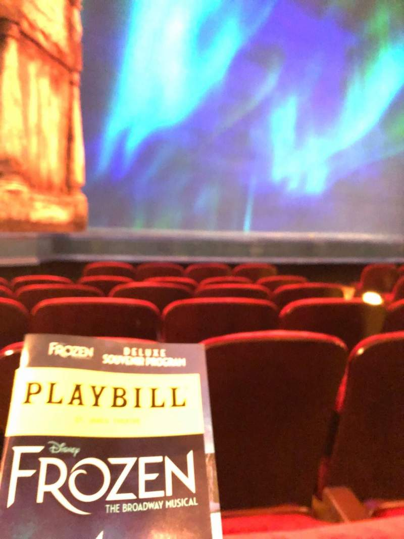 St. James Theatre, section: Orch, row: F, seat: 11
