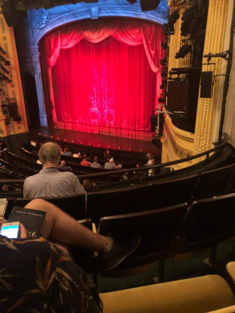 Hudson Theatre, section: Dress Circle, row: D, seat: 14
