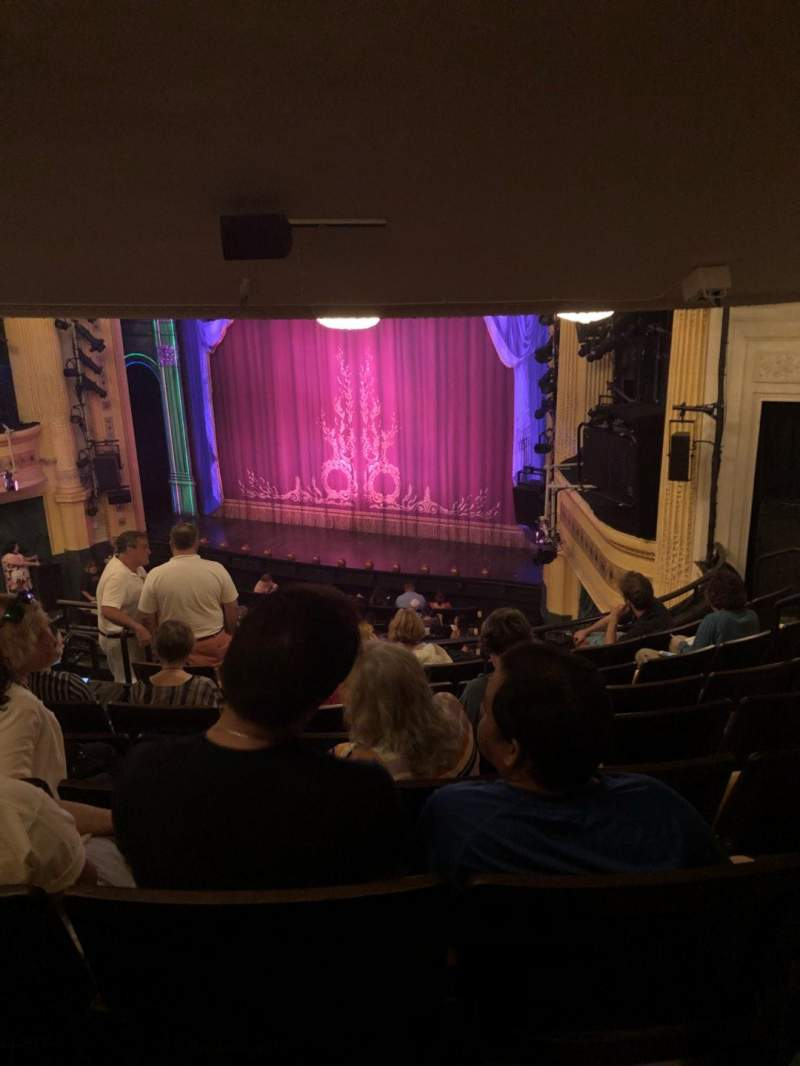 Hudson Theatre, section: Dress Circle, row: J, seat: 10