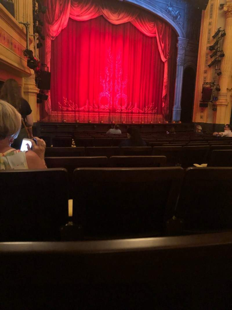 Seating view for Hudson Theatre Section Orch Row P Seat 7
