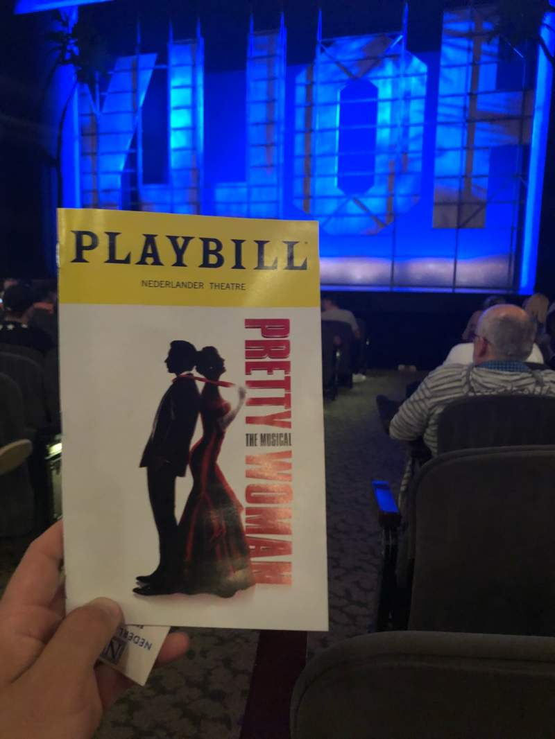 Seating view for Nederlander Theatre Section Orch Row M Seat 2