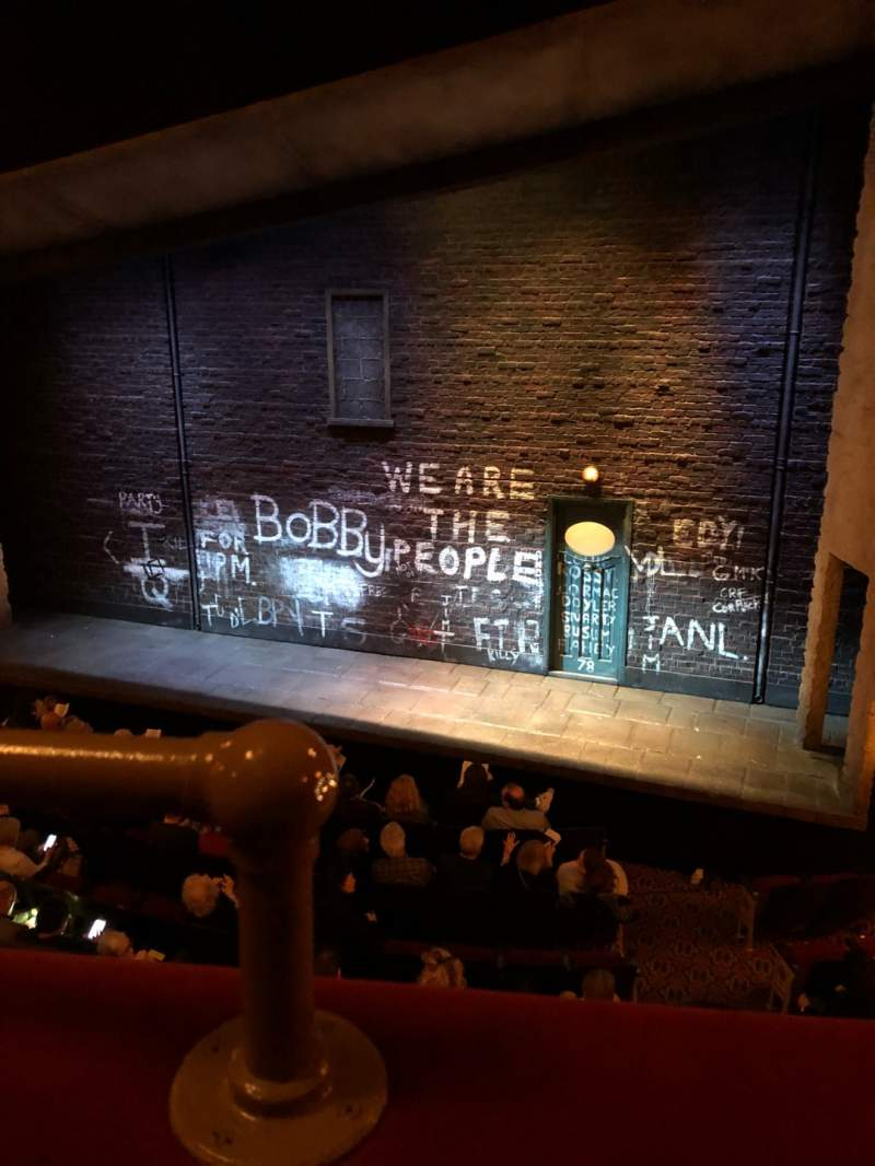 Seating view for Bernard B. Jacobs Theatre Section Mezz Row A Seat 2