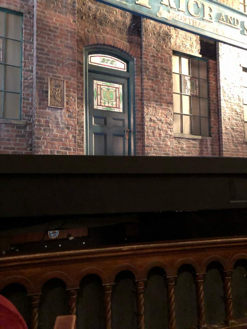 Seating view for Al Hirschfeld Theatre Section Orchestra L Row B Seat 1