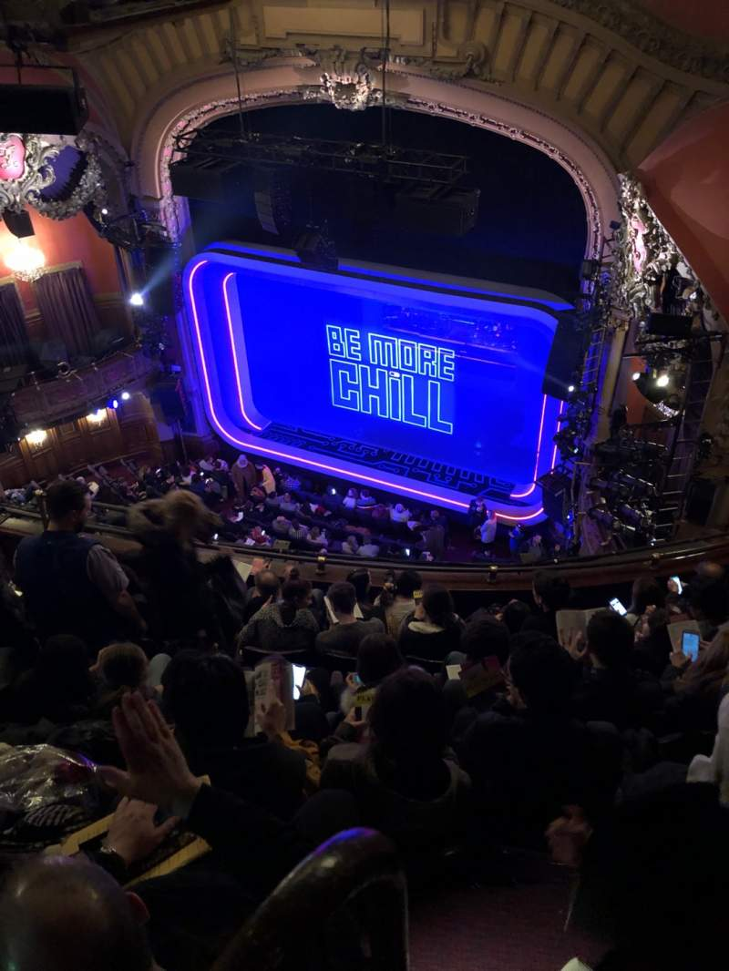Seating view for Lyceum Theatre (Broadway) Section Balcony R Row F Seat 16