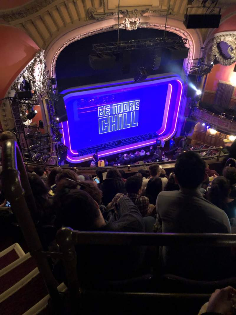 Seating view for Lyceum Theatre (Broadway) Section Balcony L Row F Seat 15