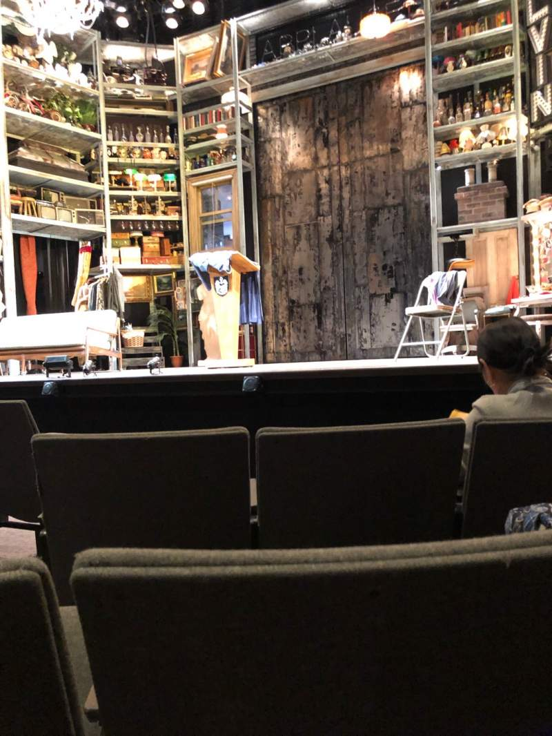 Seating view for Laura Pels Theatre Section Orch Row E Seat 4