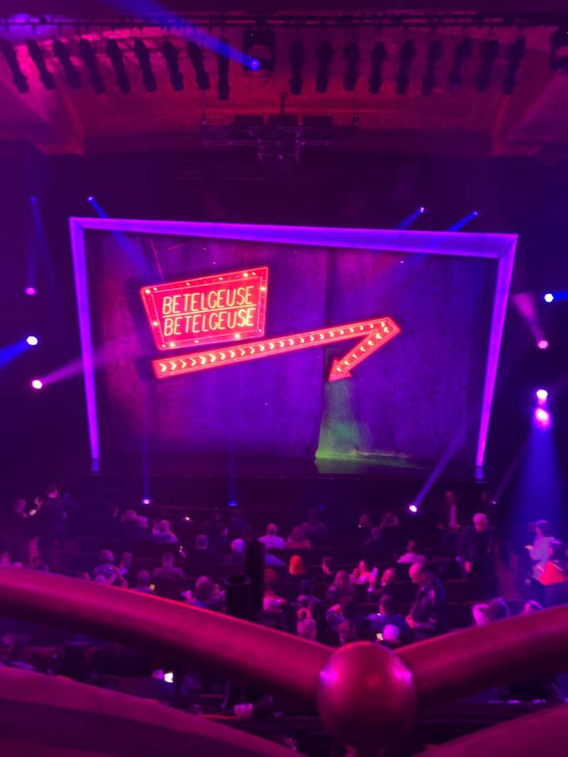 Seating view for Winter Garden Theatre Section Mezzanine RC Row A Seat 114