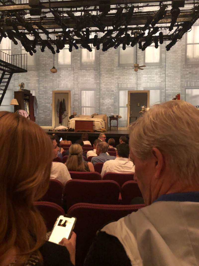 Seating view for Broadhurst Theatre Section Orchestra C Row J Seat 112