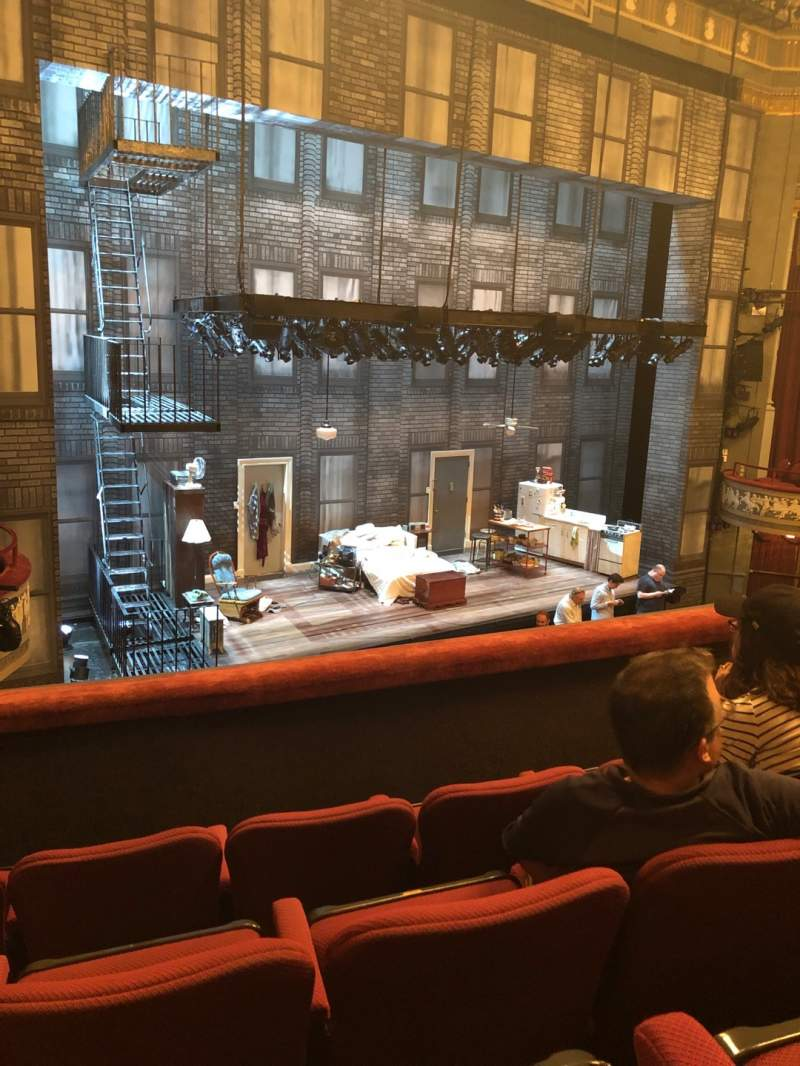 Seating view for Broadhurst Theatre Section Mezzanine L Row D Seat 17