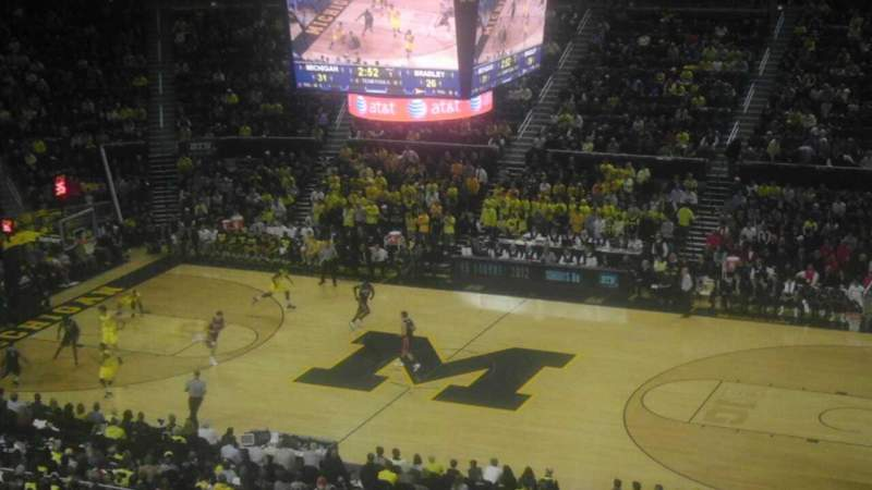 Seating view for Crisler Center Section 203 Row 39 Seat 2
