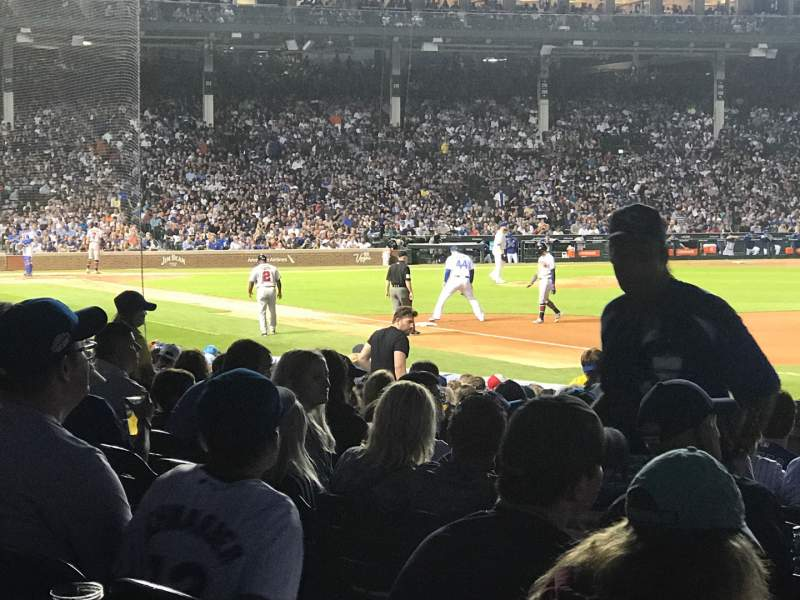 Seating view for Wrigley Field Section 130 Row 4 Seat 1