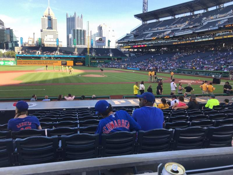 Seating view for PNC Park Section 123 Row A Seat 1