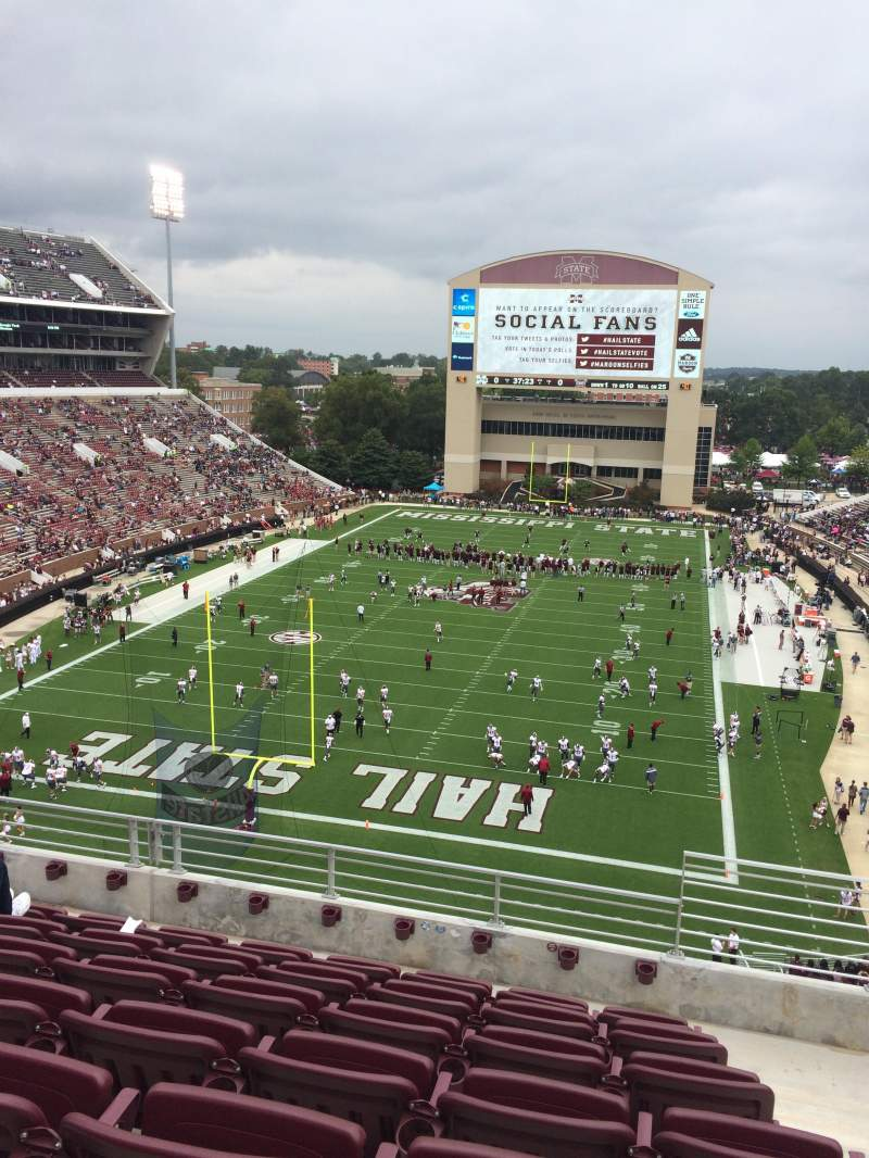 Seating view for Davis Wade Stadium Section 114 Row 7 Seat 7