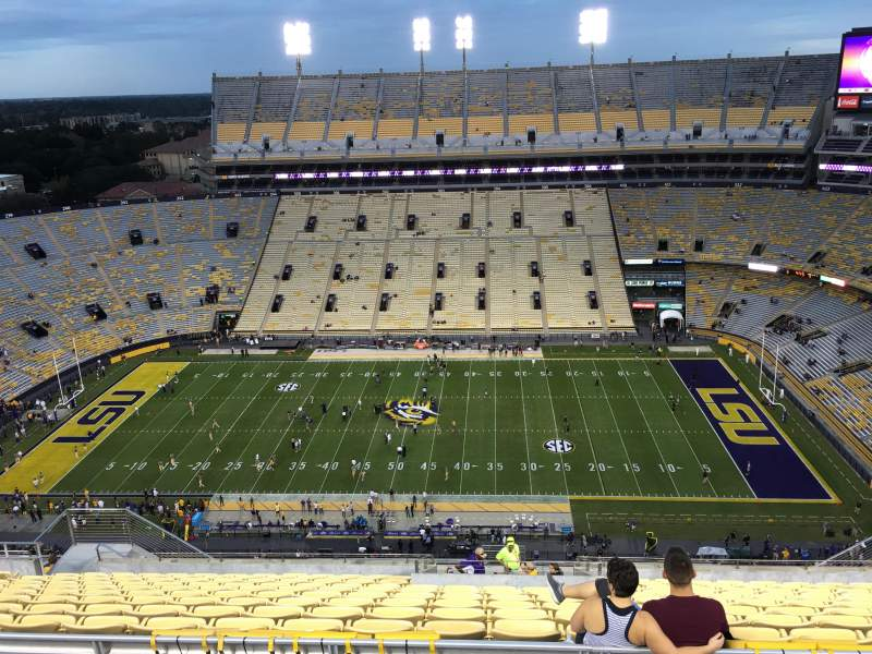 Seating view for Tiger Stadium Section 615 Row 15 Seat 17