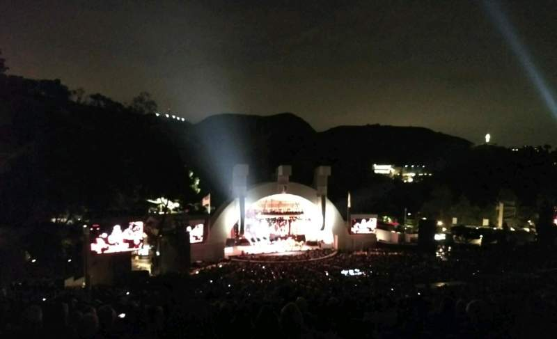 Hollywood Bowl, section: U2, row: 3, seat: 111
