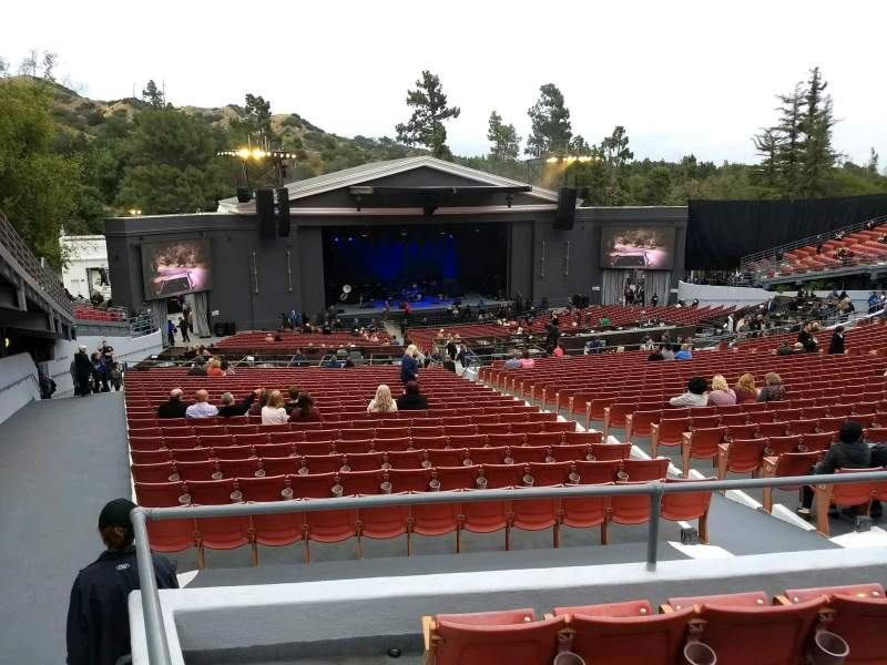 The Greek Theatre, section: C Left, row: D, seat: 37