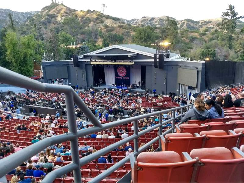 Seating view for The Greek Theatre Section South Terrace R3 Row X Seat 2
