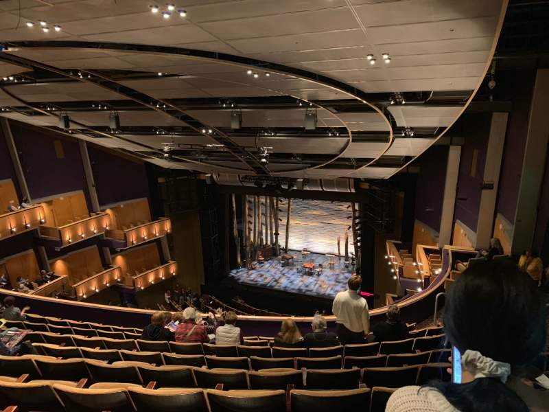 Seating view for Ahmanson Theatre Section Balcony  Row J Seat 1