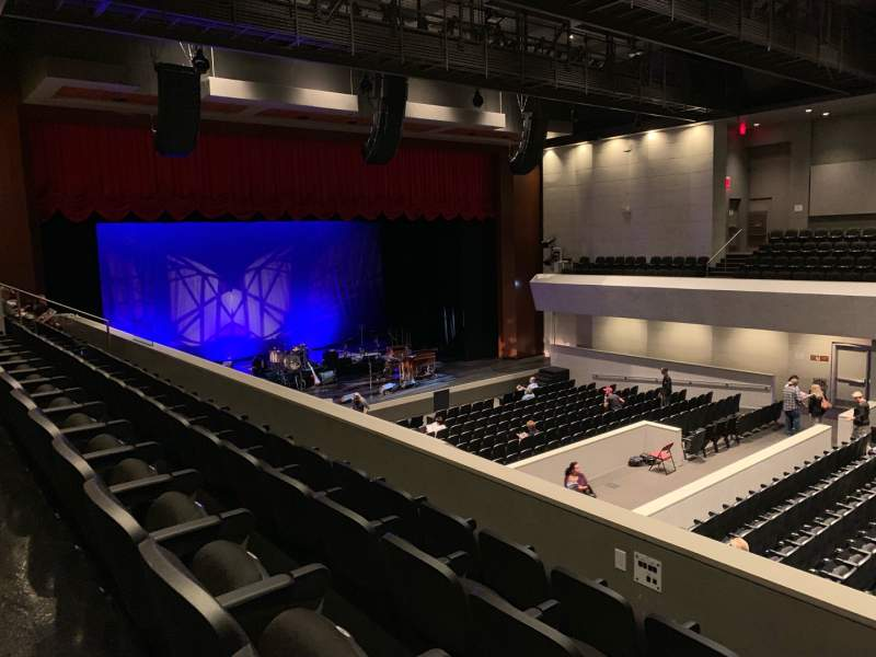 Seating view for Arcadia Performing Arts Center Section Mezz Left Row DD Seat 59