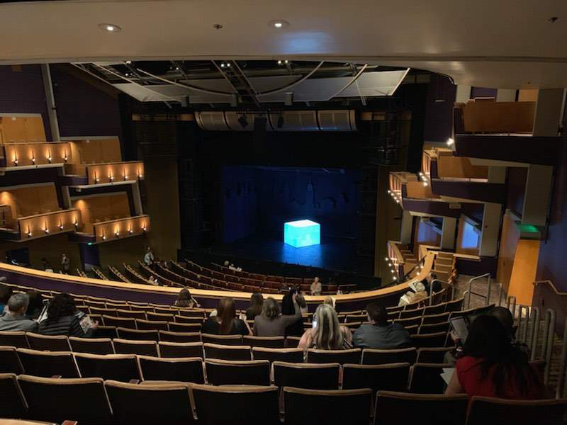 Seating view for Ahmanson Theatre Section Mezzanine  Row L Seat 1