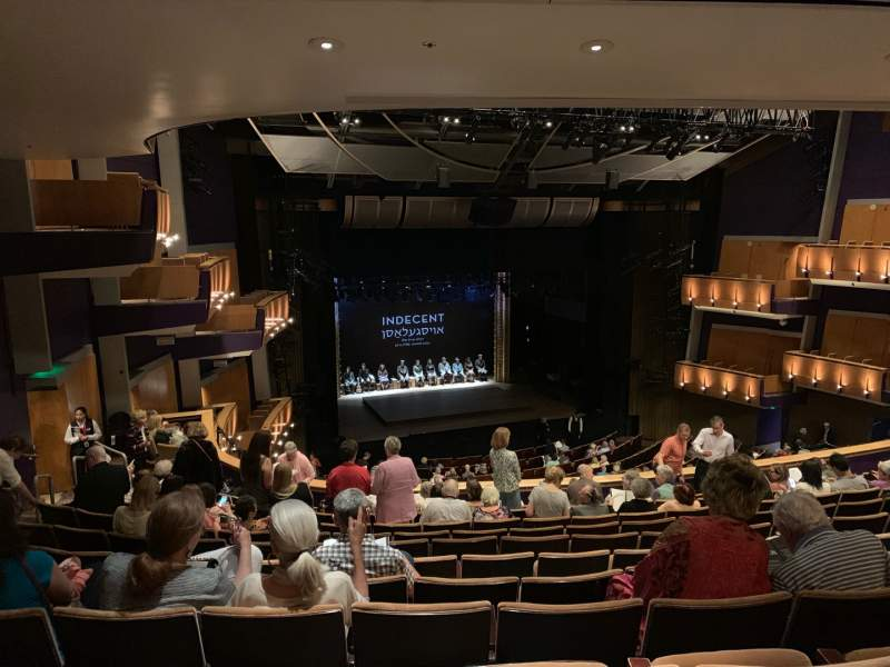Seating view for Ahmanson Theatre Section Mezzanine  Row L Seat 44