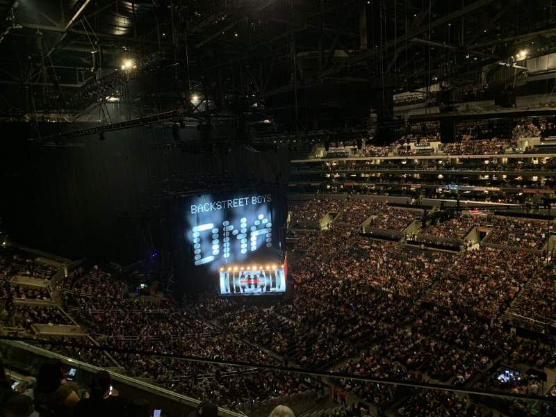 Seating view for Staples Center Section 315 Row 6 Seat 1