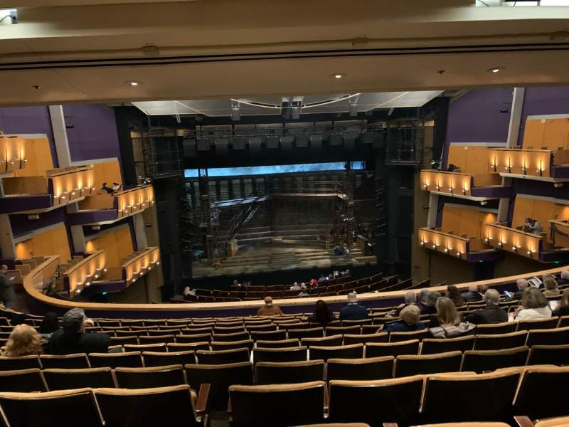 Seating view for Ahmanson Theatre Section Mezzanine Row M Seat 26